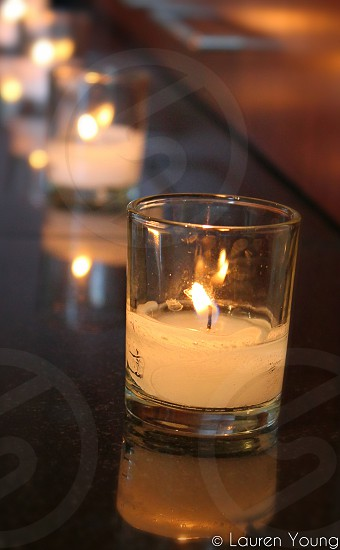 clear candle glass container photo