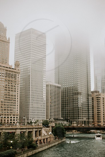 A foggy Chicago in July.  photo