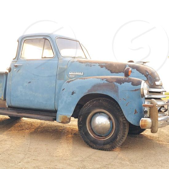 blue chevrolet 3600 pick up truck photo