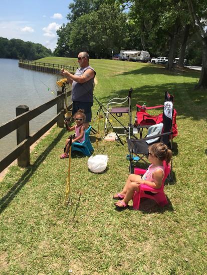 Fishing in the park fun! photo