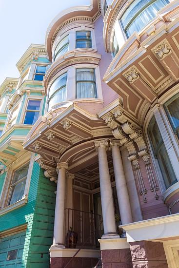 San Francisco Victorian houses near Alamo Square in California USA photo