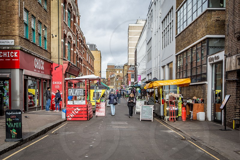 Leather Lane Market Holborn London photo