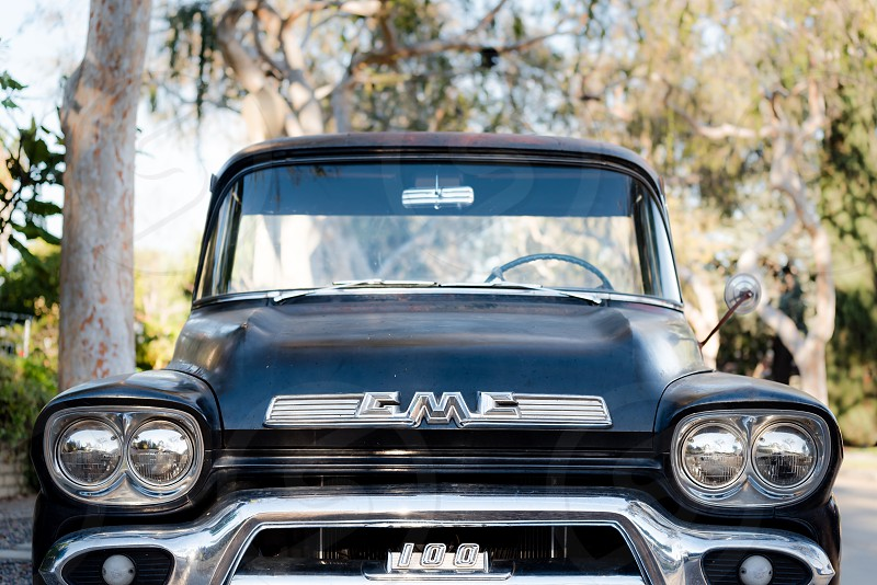 Old GMC truck photo