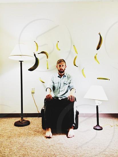 man sitting  photo