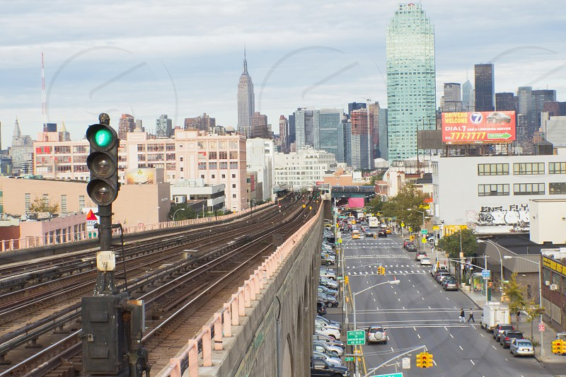 NEW YORK CITY - SEP19: Queens Boulevard is a major thoroughfare in the New York City borough of Queens connecting Midtown Manhattan via the Queensboro Bridge to Jamaica. September 19 2012  in Manhattan New York City.  photo