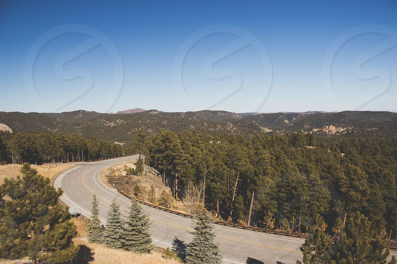 mountain road view photo