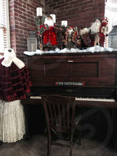 Holiday decorations Vintage piano  photo