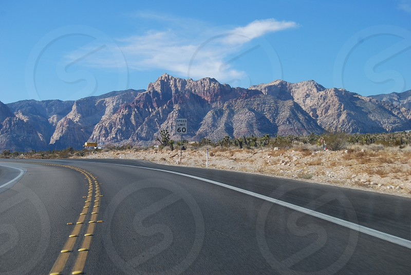 60 mph road photo