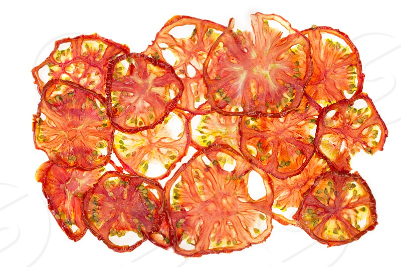 Delicious dried tomatoes photo