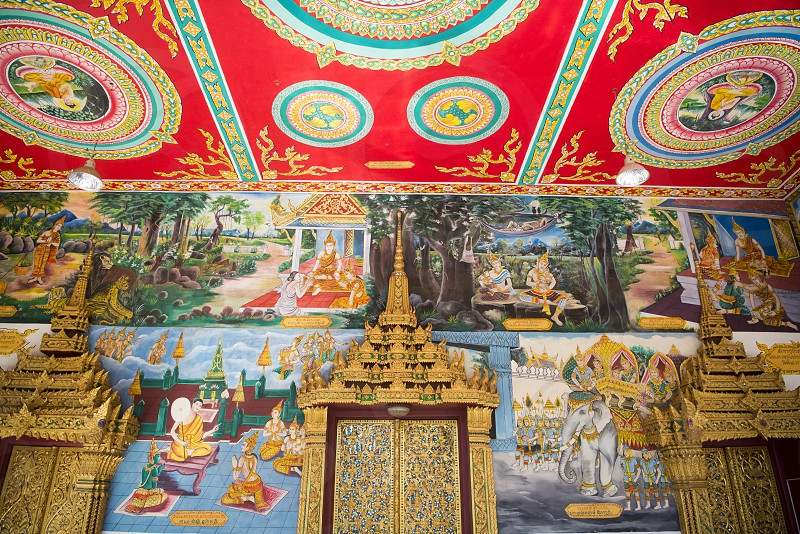 the Wat Mixai in the city of vientiane in Laos in the southeastasia. photo