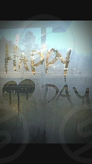 Happy Valentines Day Foggy Glass photo