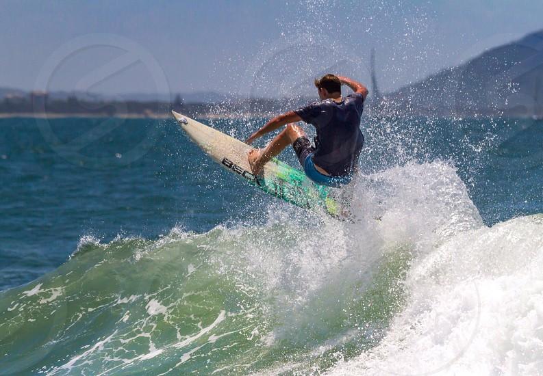 Action surf surfing danger ocean Rush exhilarating adrenaline  photo