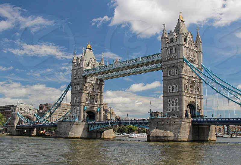 Tower Bridge and The River Thames London. photo