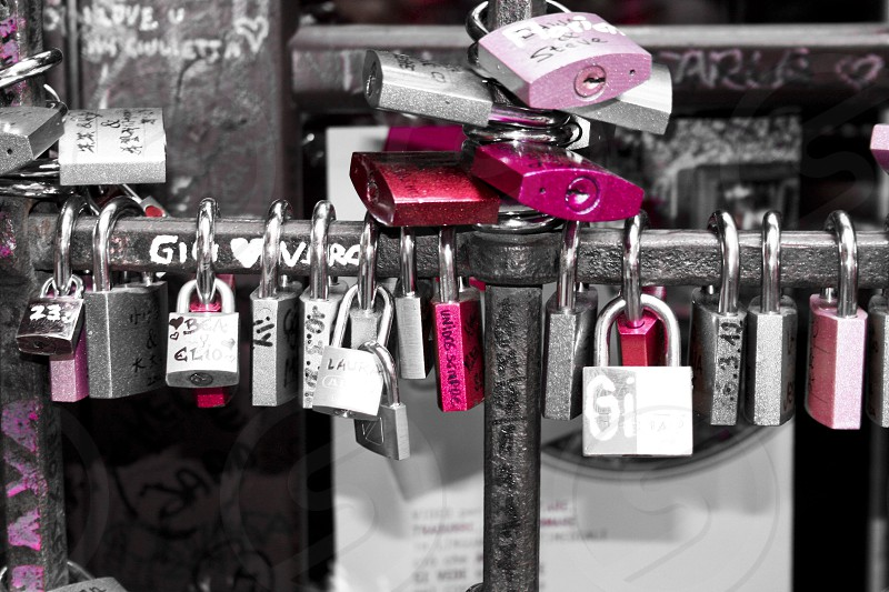 pink lock love forever photo