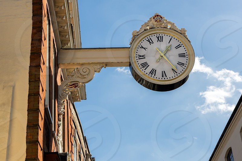 ROCHESTER KENT/UK - MARCH 24 : The old Corn Exchange clock in Rochester on March 24 2019 photo