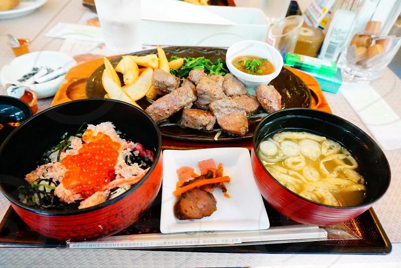 food on food tray  photo