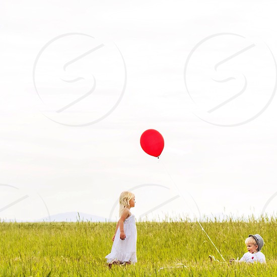 🎈Red balloon celebration  photo