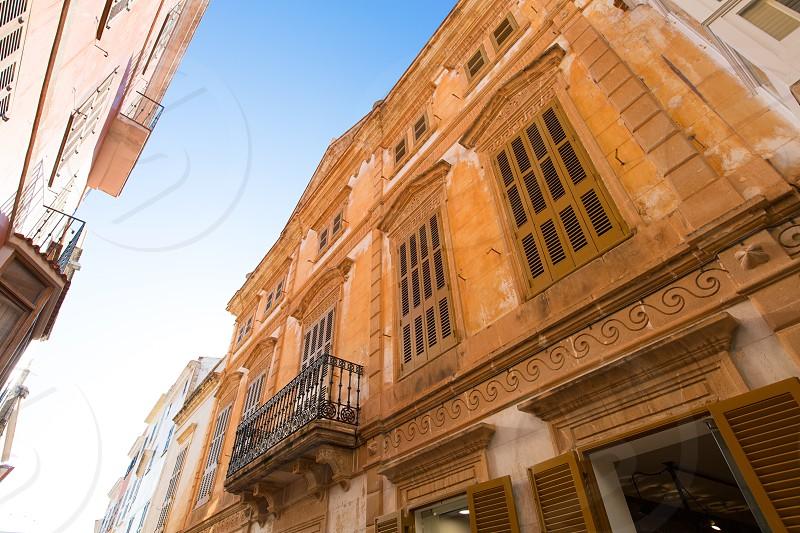 Ciutadella Menorca downtown city of Ciudadela in Balearic islands photo