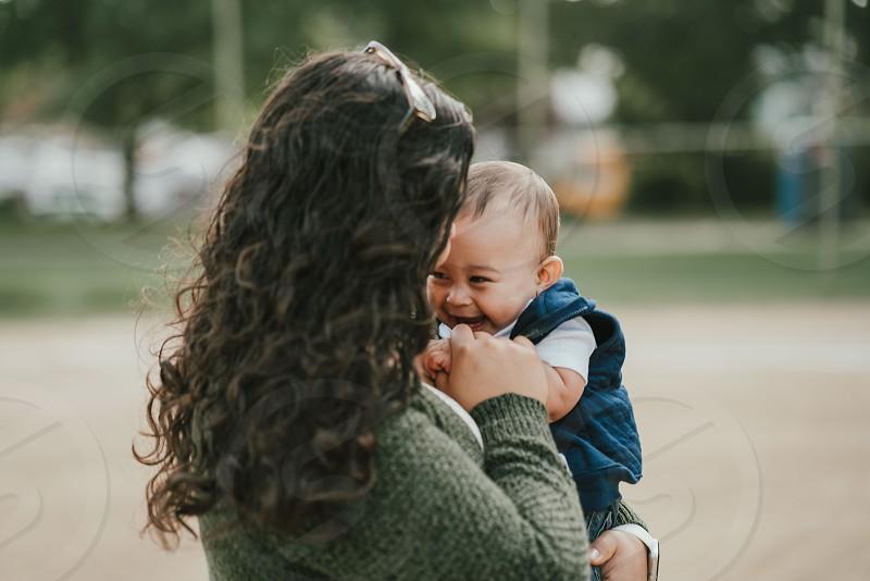 Motherhood mother baby portrait photo