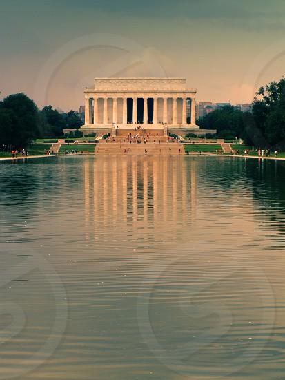 Washington Lincoln Memorial Reflecting Pool photo