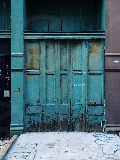 blue foldable door  photo