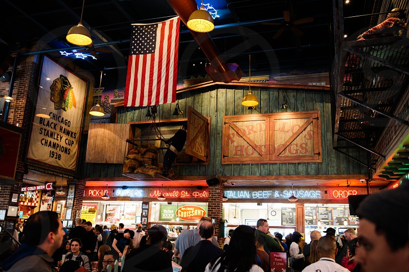 Interior of Portillo's in Chicago photo