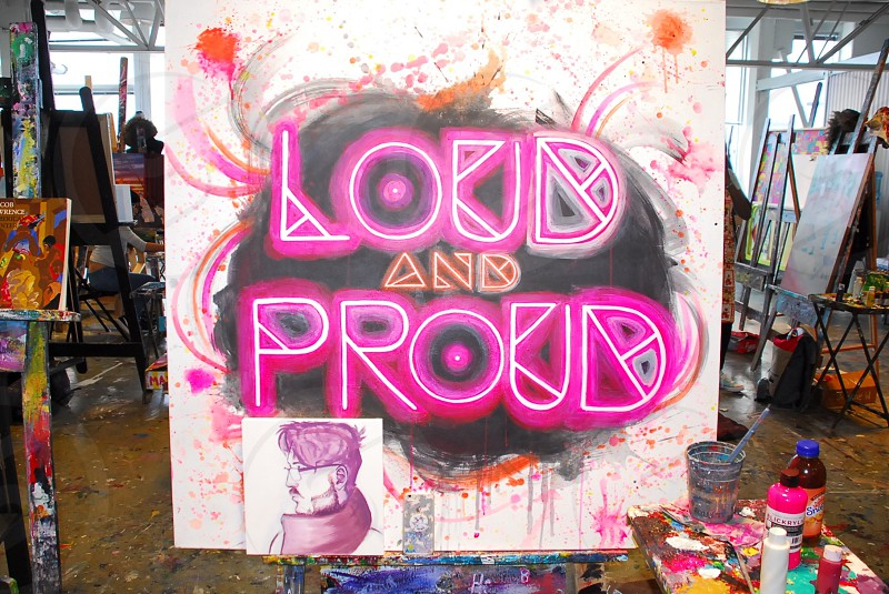 Loud and Proud.  Celebrating Pride Month photo