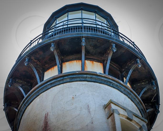 Yaquina Bay lighthouse on the Oregon coast in Newport Oregon. photo