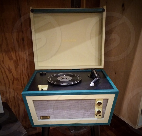 Old record player music photo