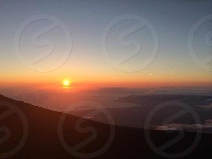 Hawaii maui sunset haleakala  photo