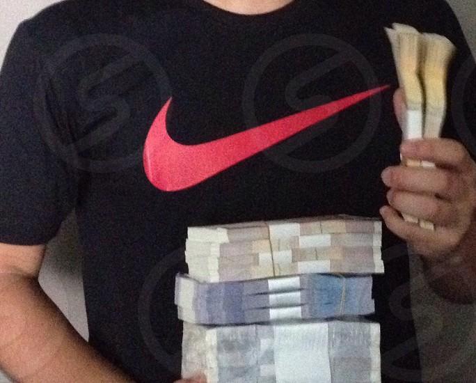 Stack of money photo