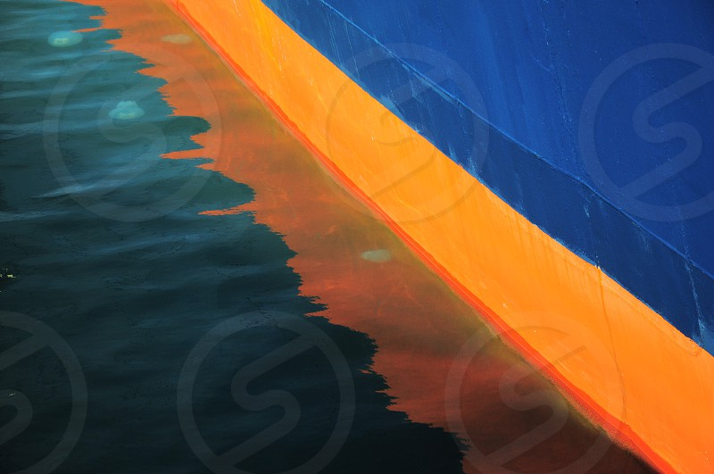 orange and blue color paint photo