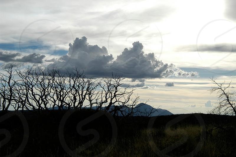 Clouds. Sunset. Mesa Verde. Colorado. photo