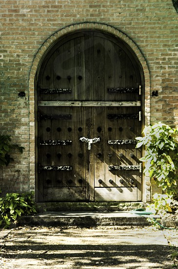 Door mystery ancient unknown wood dark scary portal photo