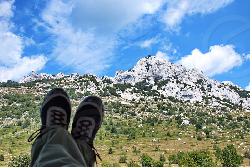 Scenic View Of Rocky Mountain Peak On