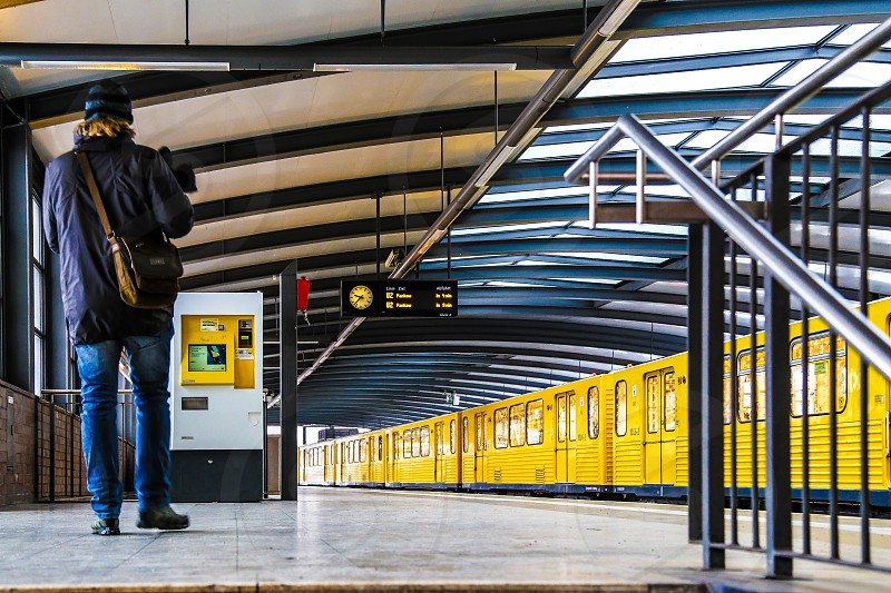 Berlin s-bahn station train commuter photo