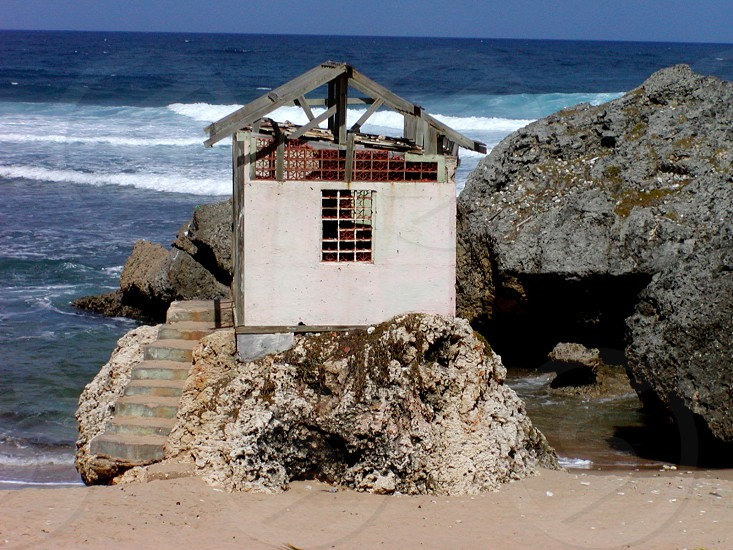 House in the Sea Barbados No Man is an Island photo