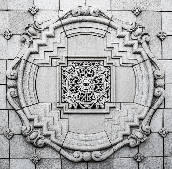 Symmetry in everyday life geometry symmetrical pattern lines city details photo