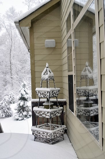 Deck covered in snow photo