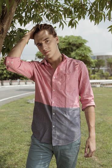 male model portraiture summer vibrant color photo