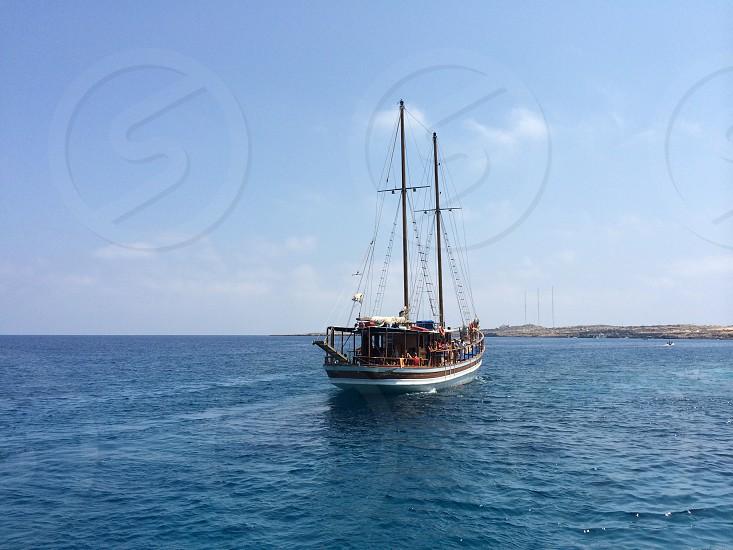 Summermemoriescyprusshipboatexcursiontripseamediterraneanholidayvacationrelaxfreedom photo