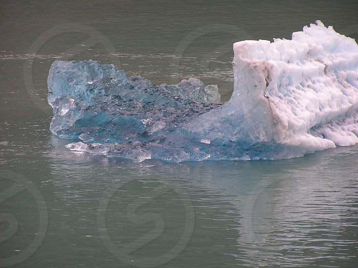 Melting ice berg in Alaska. photo