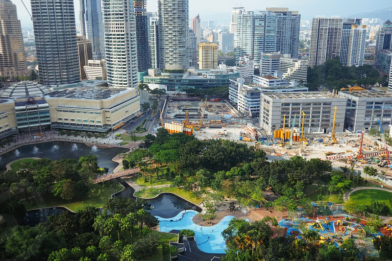 Berjaya Times Square theme park view from above photo