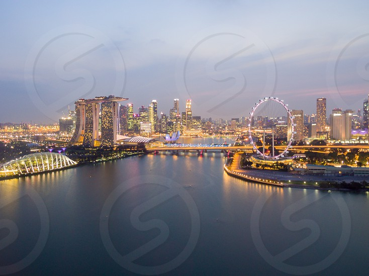 landscape photography of city buildings during sunset photo