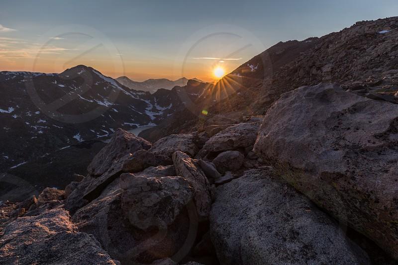 Sunset from Mount Evans near Idaho Springs Colorado photo