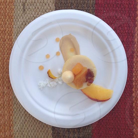 Dessert peaches cheesecake photo