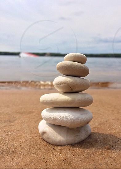 close up photo of white balance rock photo