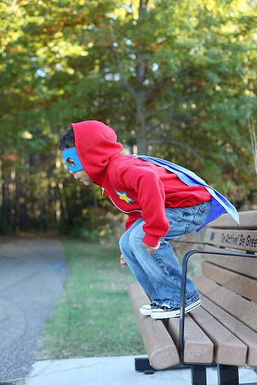 Superhero boy photo