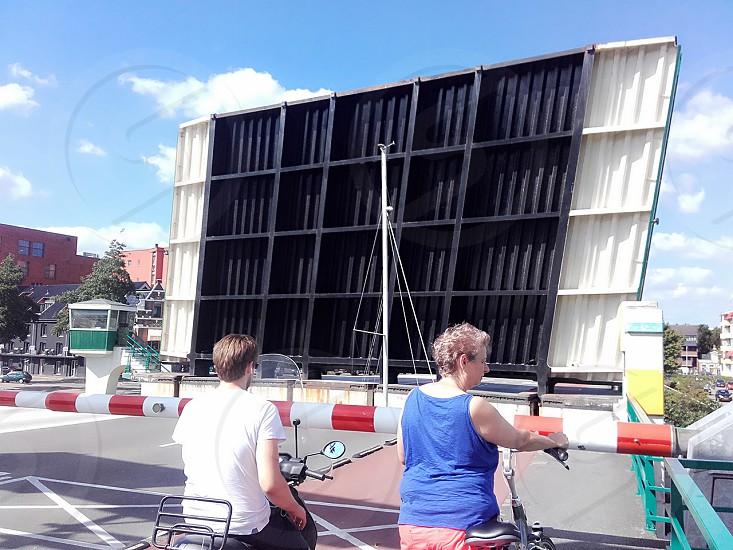 the open gate highway in Groningen Netherlands photo