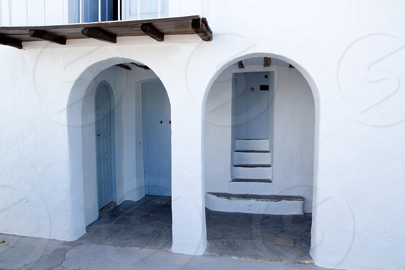Ibiza San Miguel Sant Miquel de Balansat white Mediterranean house photo